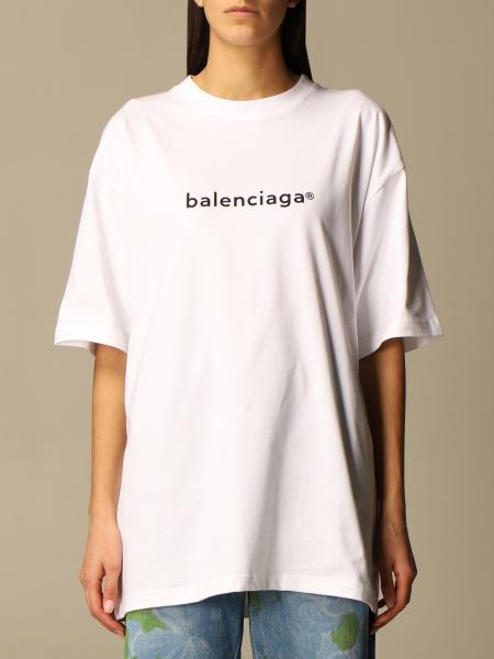 Balenciaga: Balenciaga over cotton t-shirt with logo