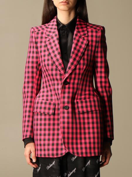 Balenciaga women: Balenciaga checked jacket