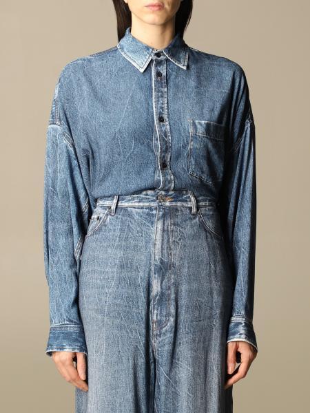 Balenciaga women: Balenciaga denim shirt with pocket