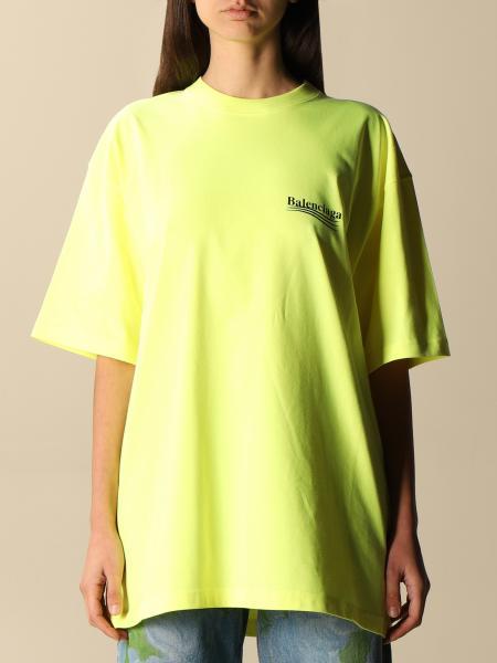 Balenciaga: Balenciaga over cotton t-shirt with Political Campaign logo