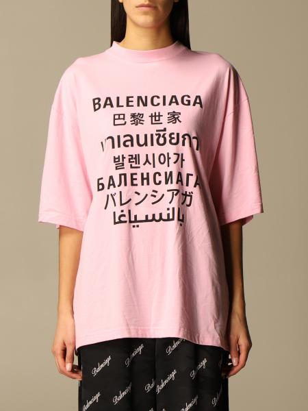 Balenciaga: Balenciaga over t-shirt with multi-language logo print