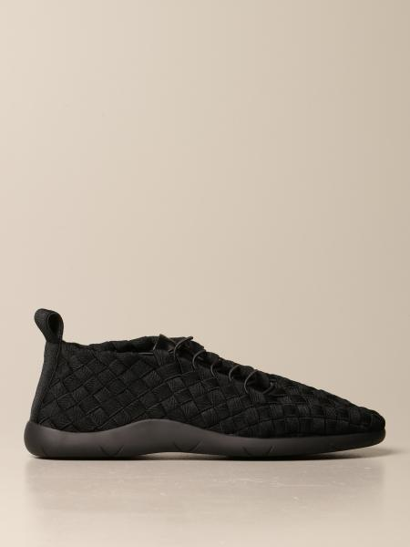 Plat Bottega Veneta trainers in woven canvas and leather