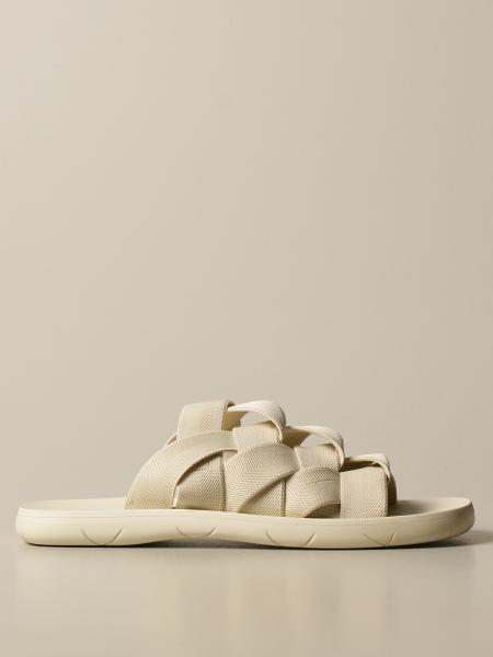 Bottega Veneta sandal in canvas and printed rubber
