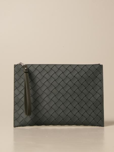 Bottega Veneta clutch bag in woven-effect rubber