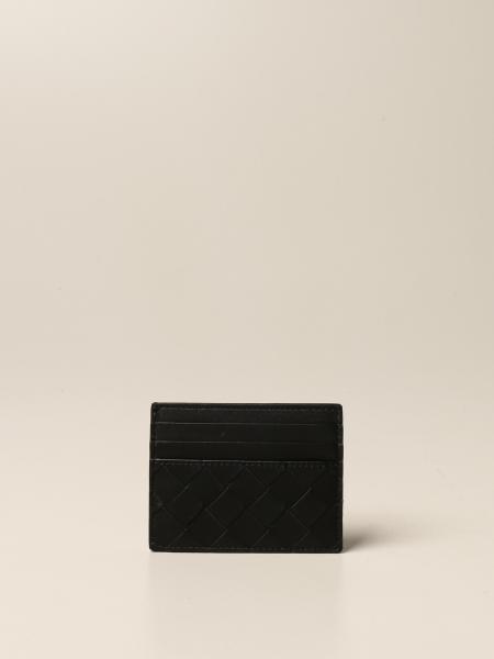 Porta carte di credito Bottega Veneta in pelle intrecciata 1.5