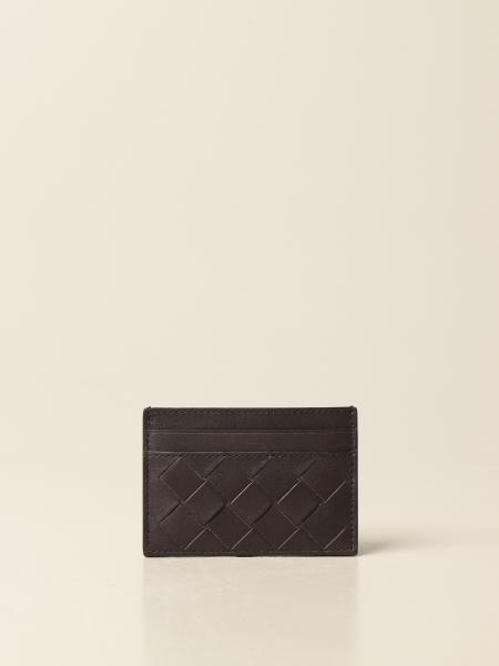 Bottega Veneta credit card holder in woven leather 1.5