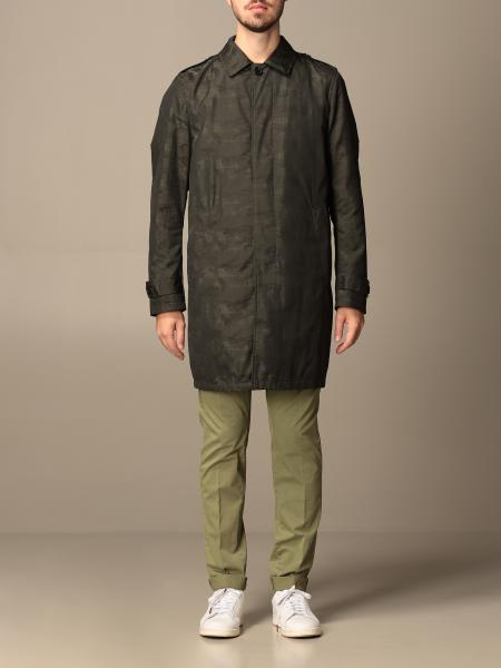 Trench Dondup in tela camouflage