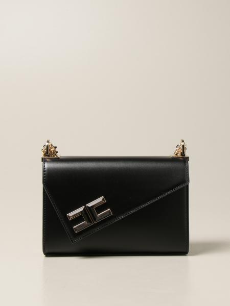 Elisabetta Franchi women: Elisabetta Franchi bag in synthetic leather with asymmetrical flap