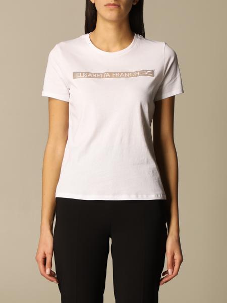 Elisabetta Franchi donna: T-shirt Elisabetta Franchi in cotone con logo