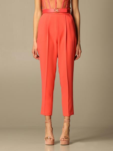 Pantalone Elisabetta Franchi in crêpe con cinta