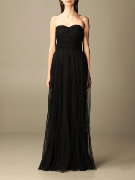Elisabetta franchi long dress in tulle