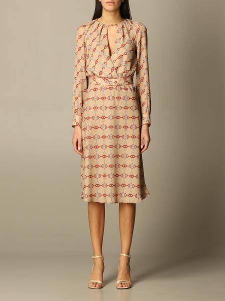 Elisabetta Franchi dress with stirrup print