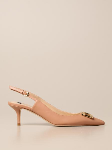 Elisabetta Franchi slingback in leather with logo