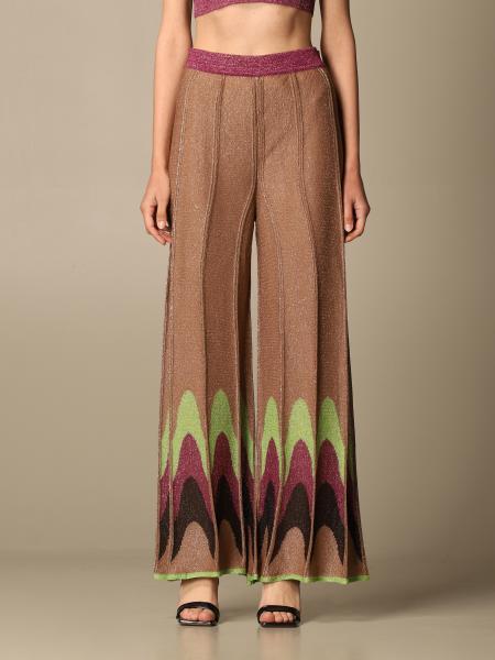 Missoni: Pantalone ampio M Missoni in maglia lurex a onde