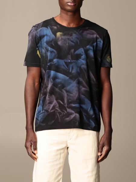 Saint Laurent men: Saint Laurent cotton T-shirt with shaded print