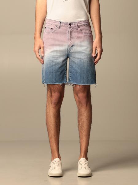 Saint Laurent denim shorts in shaded denim