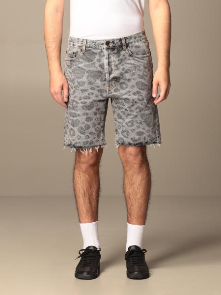 Saint Laurent denim bermuda shorts in animalier denim