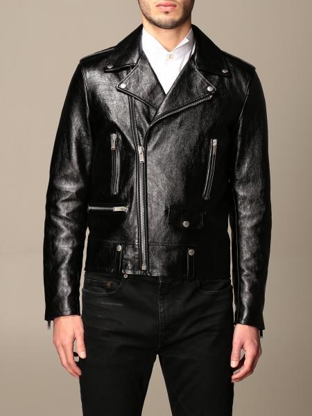Saint Laurent leather jacket with zip
