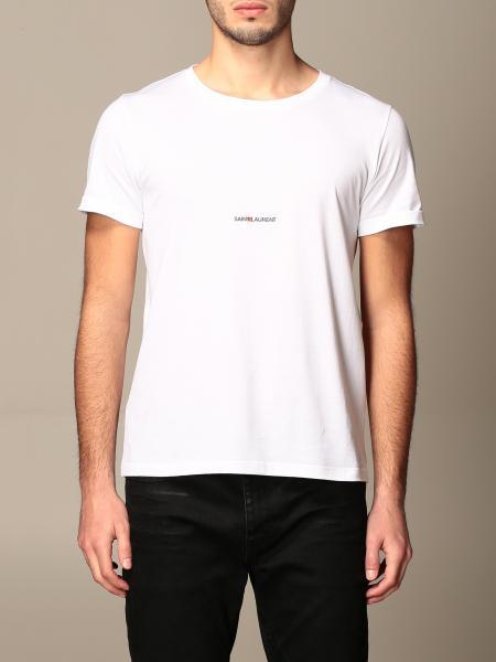 Saint Laurent: Saint Laurent cotton T-shirt with mini logo