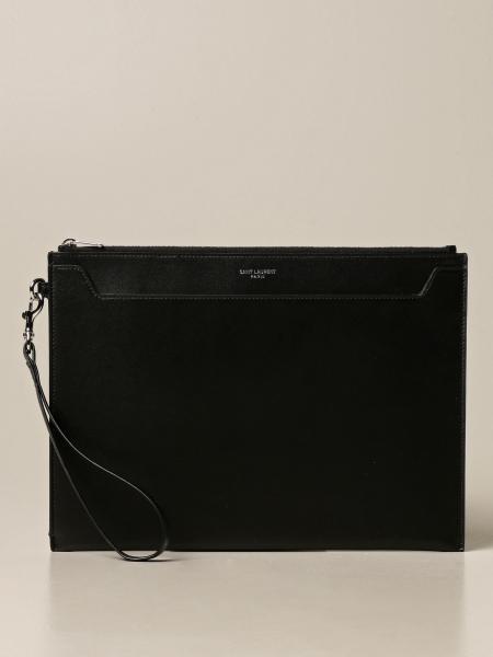 Saint Laurent: Saint Laurent clutch bag in leather