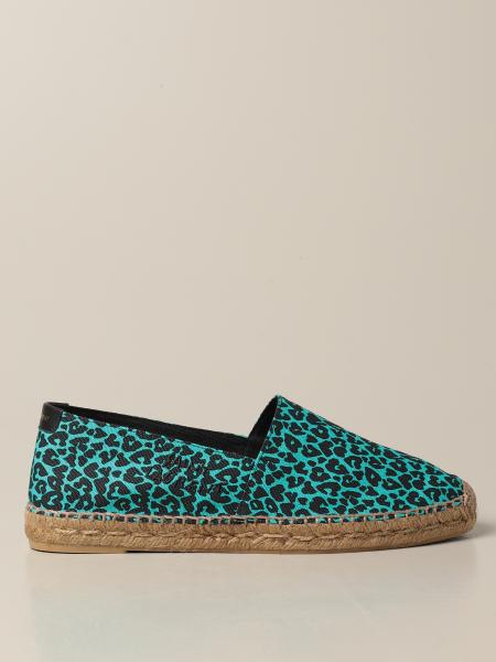 Saint Laurent espadrilles in spotted canvas