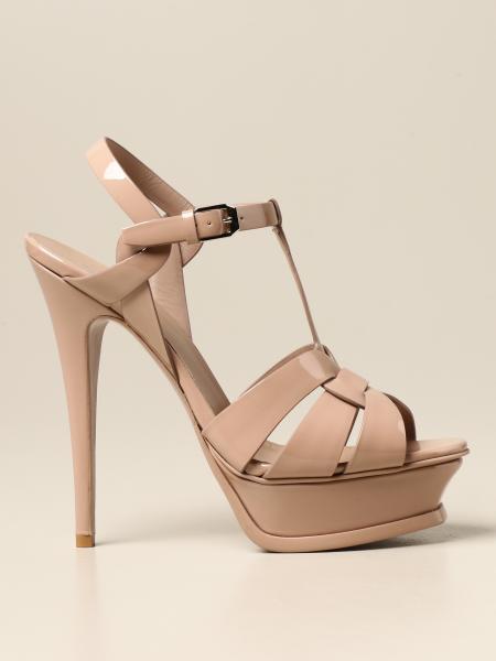Saint Laurent: Tribute Saint Laurent sandal in patent leather