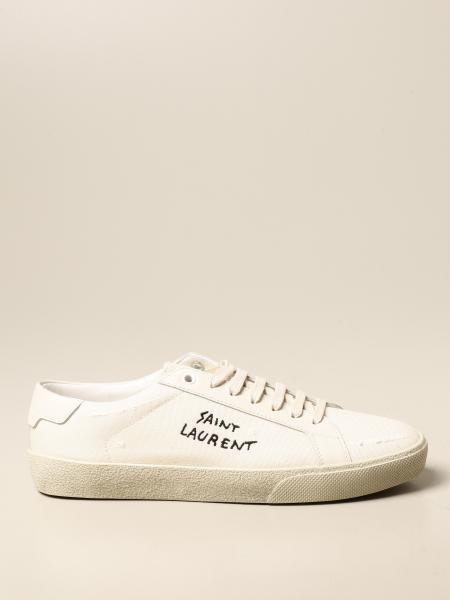 Saint Laurent donna: Sneakers Court Classic SL/06 Saint Laurent in tela e pelle