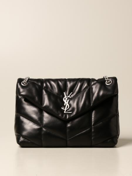 Saint Laurent women: Loulou Saint Laurent puffer bag in quilted leather