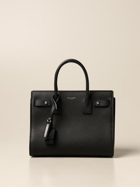Saint Laurent: Sac De Jour Soft Saint Laurent bag in hammered leather