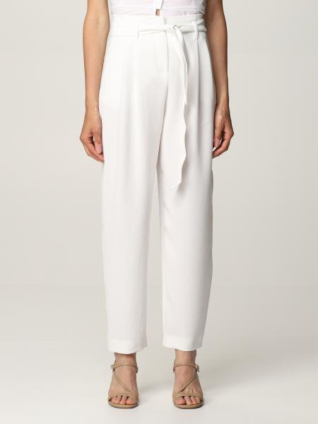 Pinko women: Pinko high-waisted pants with belt