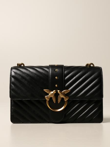 Pinko: Love Classic Icon V Quilt Pinko bag in quilted nappa
