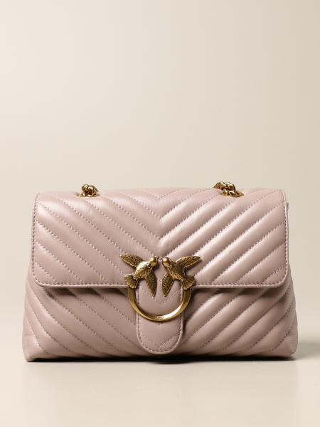 Pinko: Love Lady Puff Pinko bag in matelassé nappa
