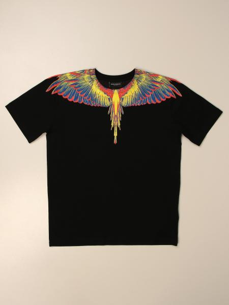 T-shirt Marcelo Burlon in cotone con piume di uccelli