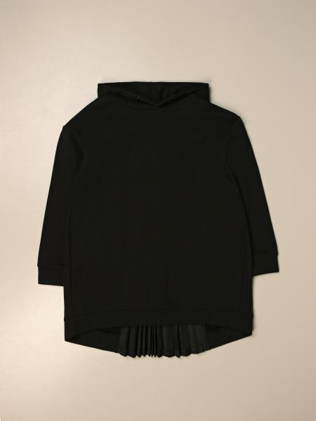 Moncler hooded sweatshirt in cotton with pleating