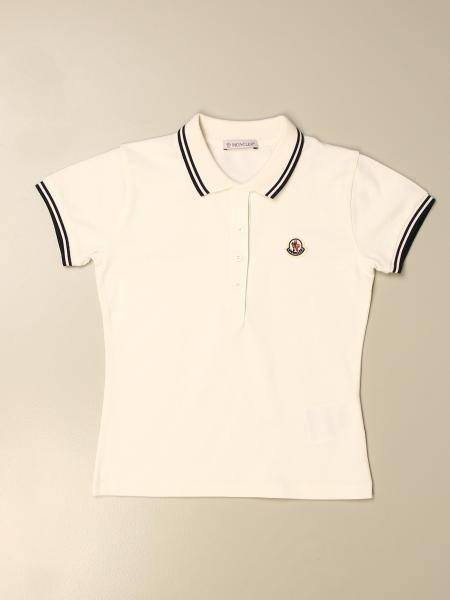 Moncler basic cotton polo shirt with logo