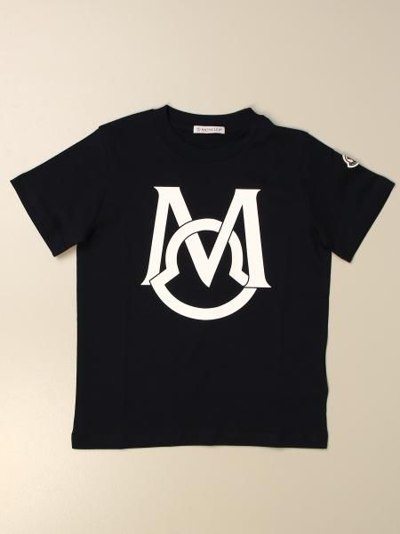 Moncler: Moncler cotton t-shirt with big logo