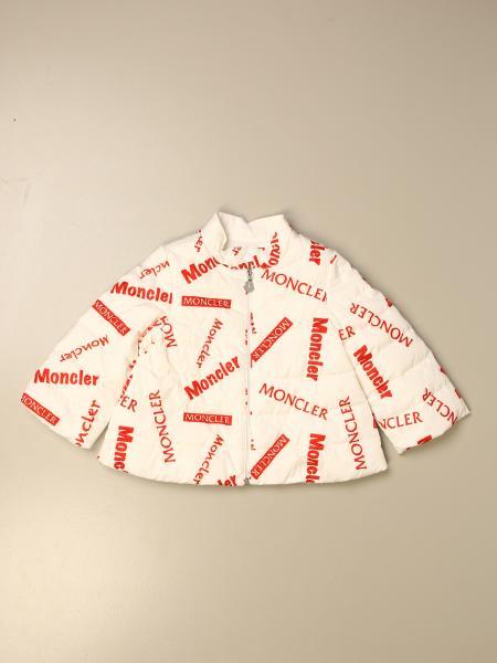 Moncler: Piumino Antie Moncler con logo all over