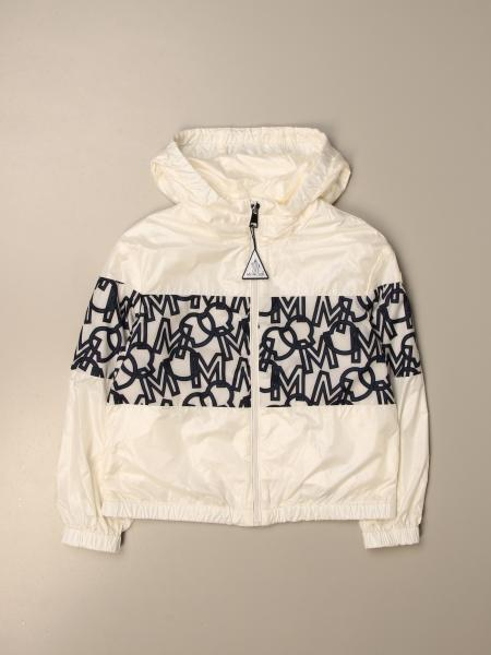 Vilna Moncler nylon zip jacket with all over logo band