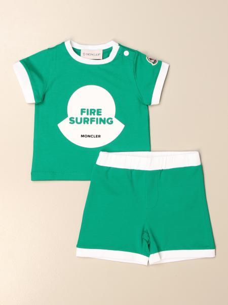 Completo t-shirt + bermuda Moncler con logo
