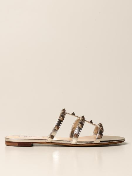 Valentino Garavani sandal in laminated leather with studs
