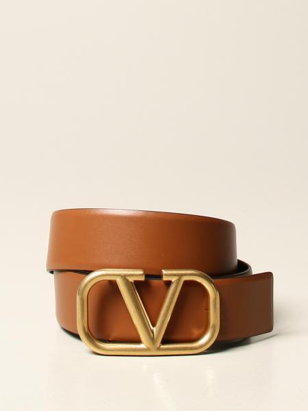 Valentino Garavani reversible belt in genuine leather with VLogo buckle