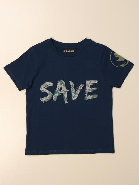 T-shirt Save The Duck in cotone con stampa logo