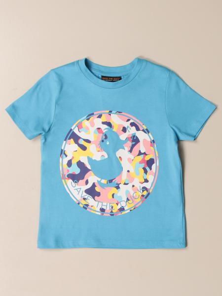 T-shirt Save The Duck in cotone con big logo