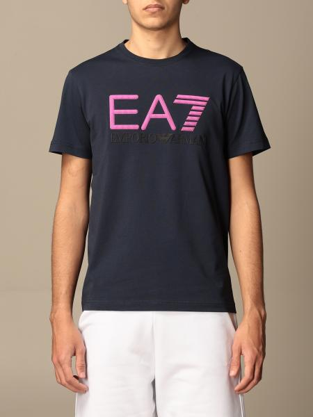 EA7 stretch cotton t-shirt with logo