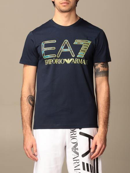 T-shirt EA7 in cotone stretch con logo