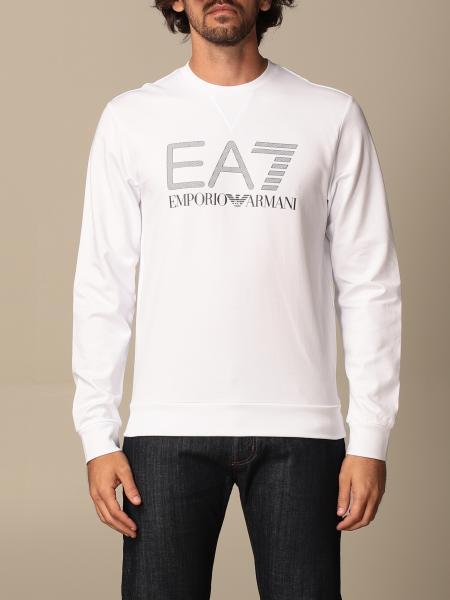 Felpa EA7 in cotone stretch con big logo