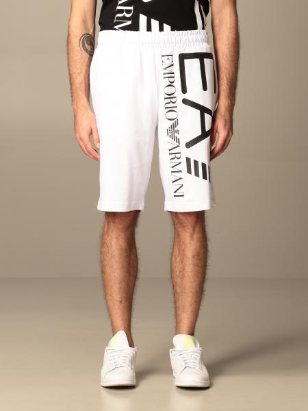 EA7 jogging shorts in stretch cotton with logo