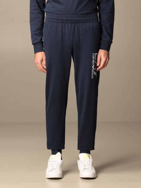 Pantalone EA7 in cotone stretch con logo