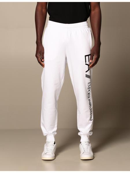 Pantalone pantalone jogging ea7 in cotone stretch con logo Ea7 - Giglio.com