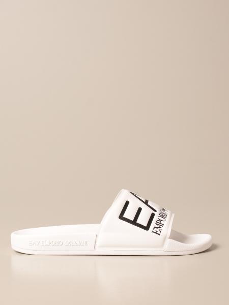 Sandalo EA7 in gomma con logo